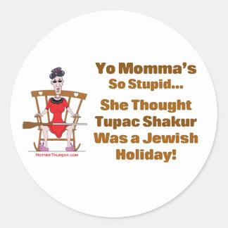 Yo Momma # 11 Classic Round Sticker