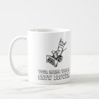 Yo Momma Robot Joke - Mama Was A Snow Blower Coffee Mug