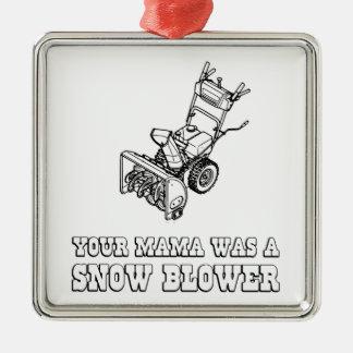 Yo Momma Robot Joke - Mama Was A Snow Blower Metal Ornament