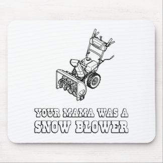 Yo Momma Robot Joke - Mama Was A Snow Blower Mouse Pad