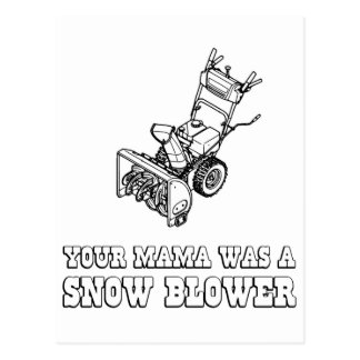 Yo Momma Robot Joke - Mama Was A Snow Blower Postcard