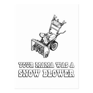 Yo Momma Robot Joke - Mama Was A Snow Blower Post Cards