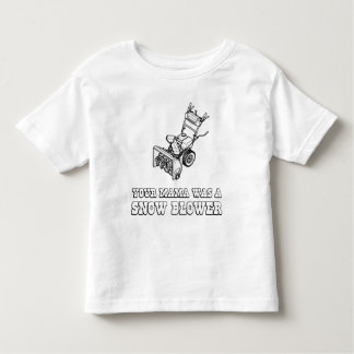 Yo Momma Robot Joke - Mama Was A Snow Blower Tee Shirt