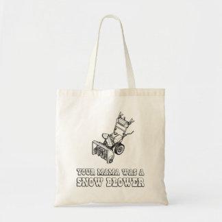 Yo Momma Robot Joke - Mama Was A Snow Blower Tote Bag