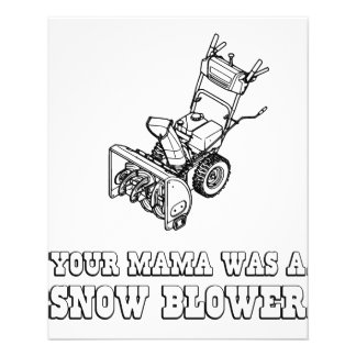 """Yo Momma Robot Joke - She Was A Snow Blower 4.5"""" X 5.6"""" Flyer"""