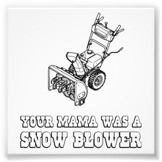 Yo Momma Robot Joke - She Was A Snow Blower Photo Print