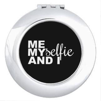 Yo Myselfie e I Selfie divertido Espejos Para El Bolso