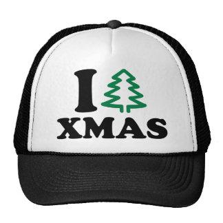 Yo Navidad del árbol de amor Gorro De Camionero