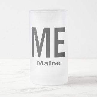 YO negro llano de Maine Taza De Cristal