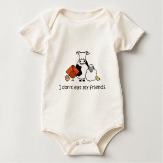 Yo no como a mis amigos body para bebé
