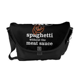 Yo no como los espaguetis sin la salsa de la carne bolsa messenger