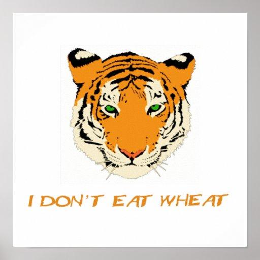 Yo no como trigo póster
