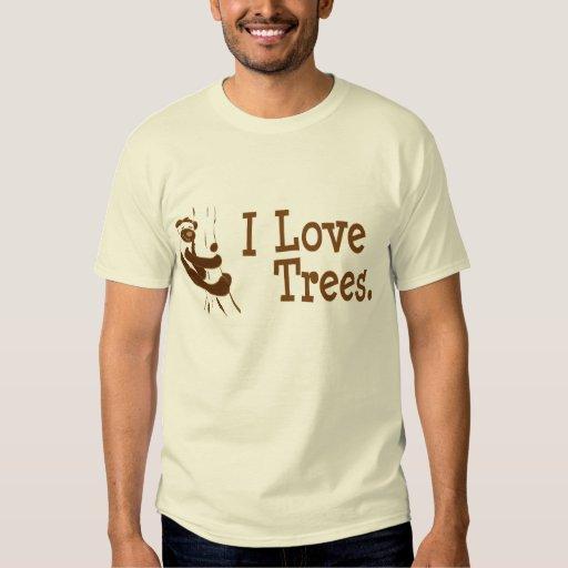 Yo oso de los árboles de amor remera