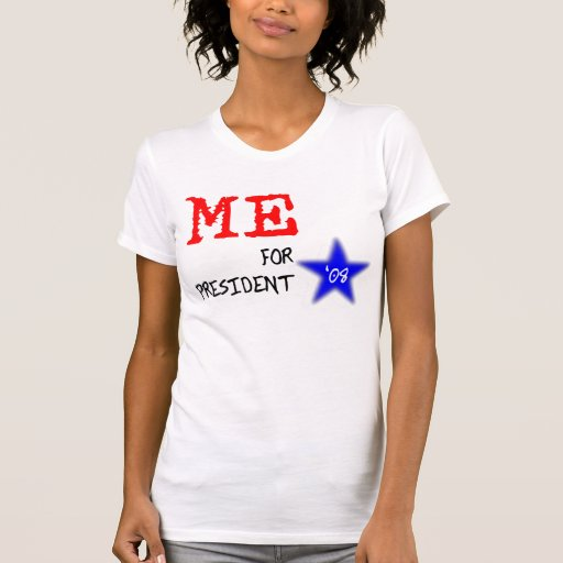 Yo para la camiseta del presidente 2008 señoras playera