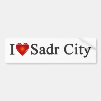 """""""Yo pegatina para el parachoques de Sadr City del  Pegatina Para Auto"""