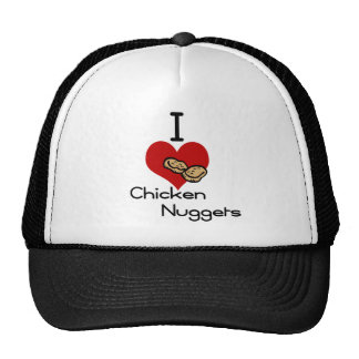 Yo pepitas de pollo del corazón-amor gorra