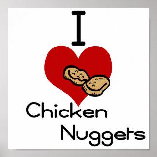 Yo pepitas de pollo del corazón-amor impresiones