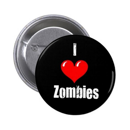 """""""Yo Pin de los zombis (del corazón)"""" Pin Redondo 5 Cm"""