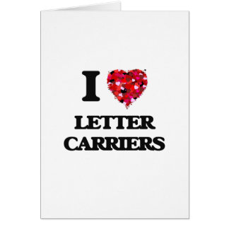 Yo portadores de letra de amor tarjeta de felicitación