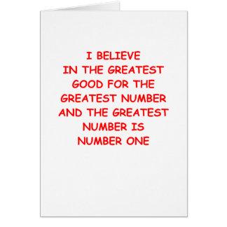 yo primero tarjeta de felicitación