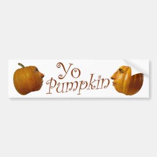 Yo Pumpkin Bumper Sticker