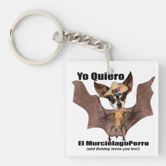Yo quiero el murcielago perro - I love the Batdog Double-Sided Square Acrylic Keychain