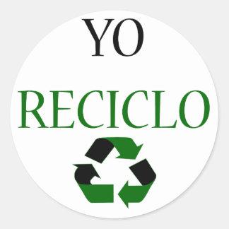 Yo Reciclo Pegatina Redonda