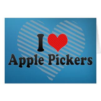 Yo recogedores de Apple de amor Felicitaciones