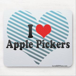 Yo recogedores de Apple de amor Alfombrilla De Ratón