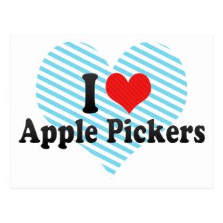 Yo recogedores de Apple de amor Tarjeta Postal