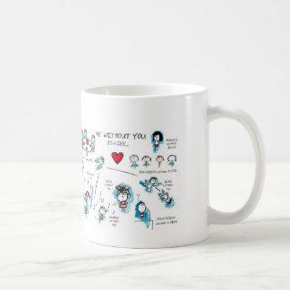 Yo sin usted - tarjeta del día de San Valentín - a Taza De Café