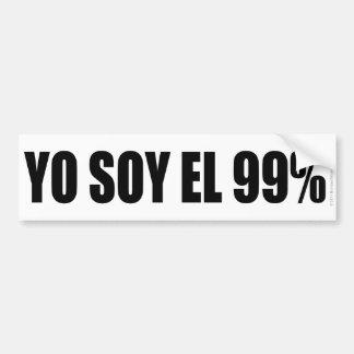 YO SOY EL 99% BUMPER STICKER