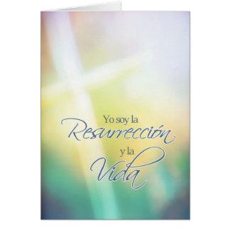 Yo soy la resurrección, Spanish Easter card