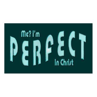 ¿Yo? Soy. los .in perfectos Cristo - Heb10: 14 de Tarjetas De Visita