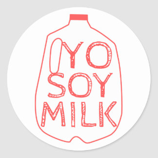 Yo Soy Milk Classic Round Sticker