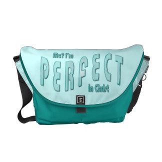 ¿Yo? Soy perfecto… en Cristo - 10:14 de los hebreo Bolsa Messenger