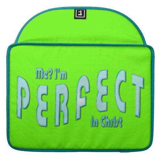 ¿Yo? Soy perfecto… en Cristo - 10:14 de los hebreo Funda Para Macbooks