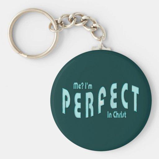 ¿Yo? Soy perfecto… en Cristo - 10:14 de los hebreo Llavero Redondo Tipo Pin