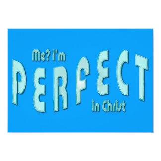 """¿Yo? Soy perfecto… en Cristo - 10:14 de los Invitación 5"""" X 7"""""""