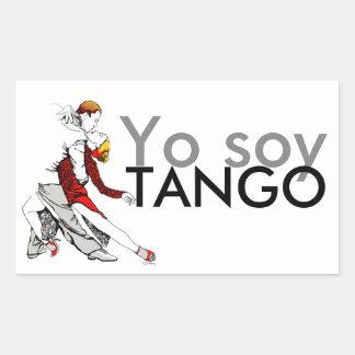 Yo soy Tango Rectangular Sticker