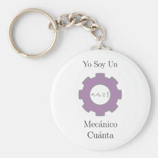 Yo soy un mecånico cuånta basic round button keychain