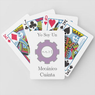 Yo soy un mecånico cuånta bicycle playing cards