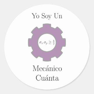 Yo soy un mecånico cuånta classic round sticker