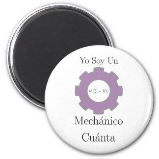 yo soy un mechanico cuanta, Schrodinger equation 2 Inch Round Magnet