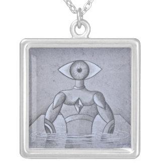 Yo soy vision square pendant necklace
