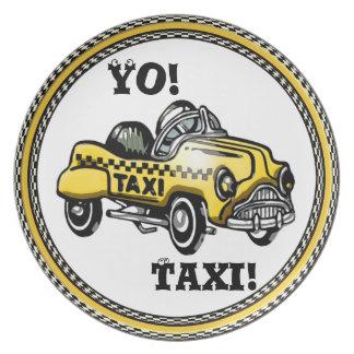 Yo! Taxi! (Child's Plate)