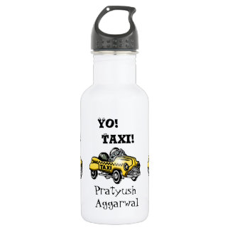 Yo! Taxi! (Personalized) Stainless Steel Water Bottle
