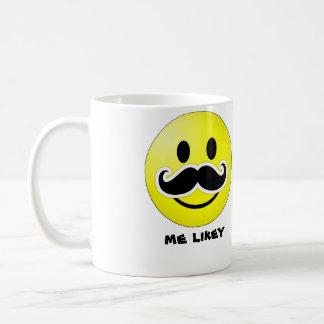 yo taza de café del bigote del likey