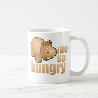 yo taza de café divertida tan hambrienta del hipop