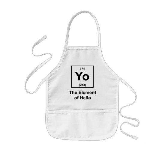 Yo! The Element of Hello Kids' Apron